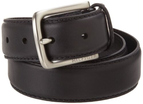 Tommy Hilfiger Men/'s Black Belt Ribbon Stitch Leather 11tl02x038-blk