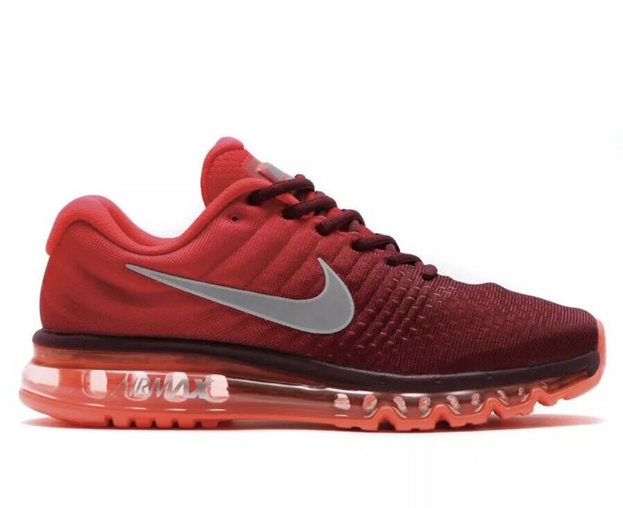 Men's Nike Air Max 2018 Running Shoes Maroon Red / White Sz 11 849559 601