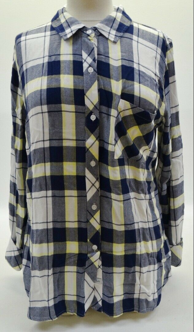 NEW Rails Clothing Blau Multi Plaid Button Down Shirt Top Größe M