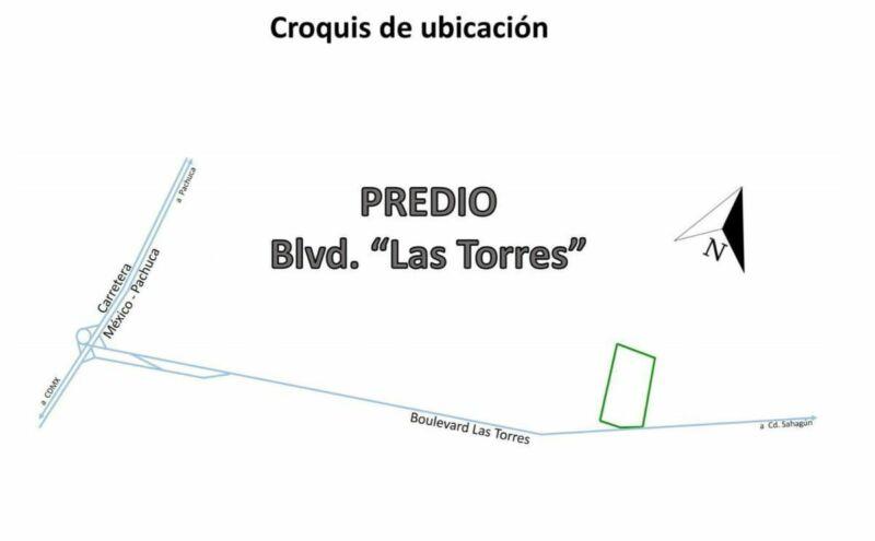 Terreno en venta bien ubicado en Bldv. Las Torres