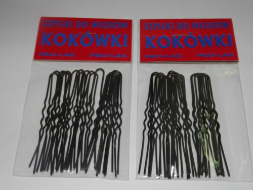 x40  BOBBY WAVED HAIR PINS CLIPS GRIPS 4colours 5sizes