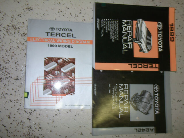1999 Toyota Tercel Service Shop Repair Manual Set Oem Factory Dealership 99