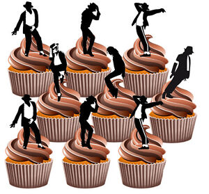Image Is Loading Michael Jackson Silhouettes Fun Fully Edible Birthday Cup