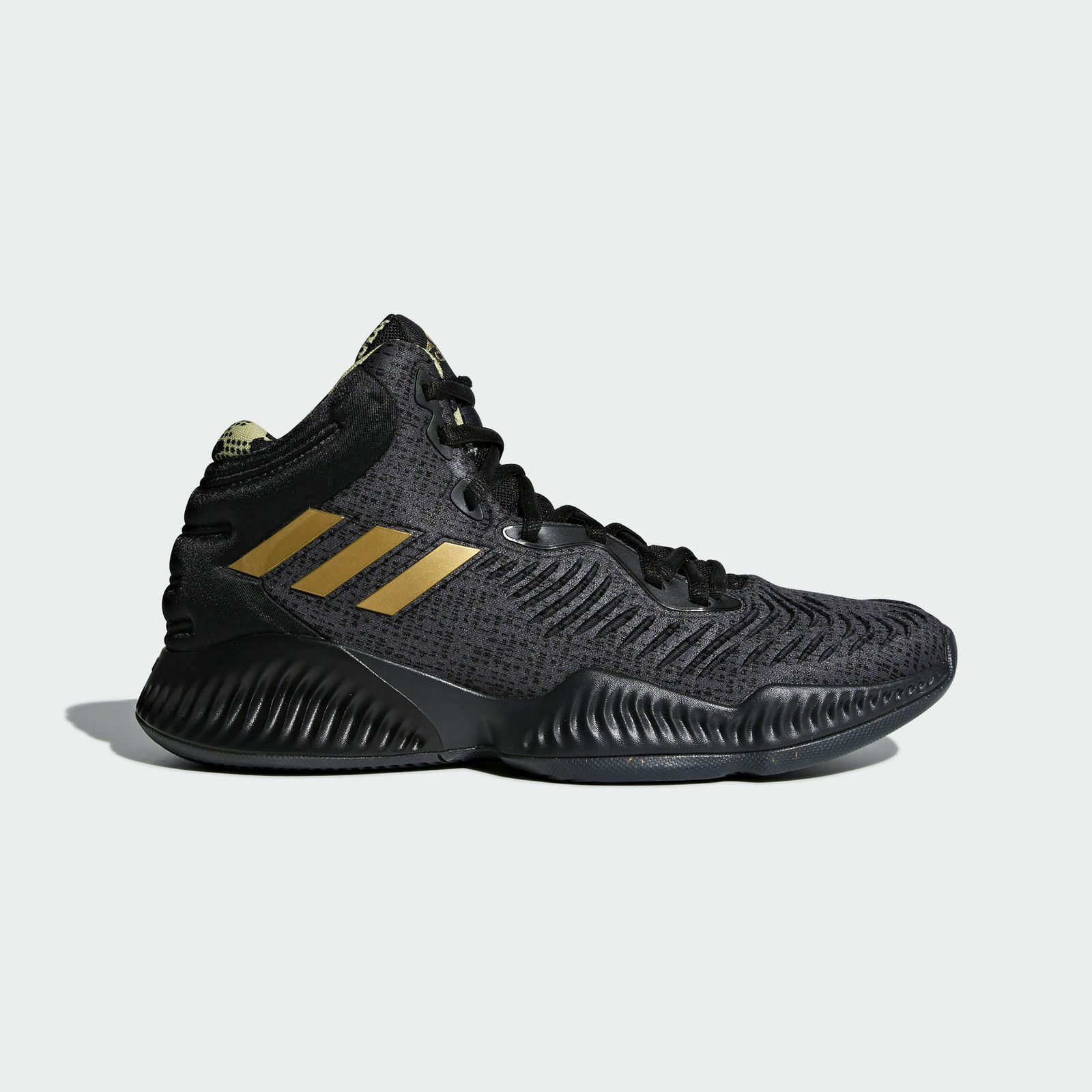 Adidas Mad Bounce 2018 [B41870] Men Basketball shoes Black gold