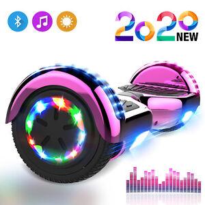 Elektro Scooter 6,5 Zoll Hoverboard Bluetooth LED Selbst Balance ElektroRoller