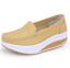 Indexbild 2 - Damen Rund Toe Wedge Low Heel Schuhe Platform Krankenschwester Loafer gr.34-41