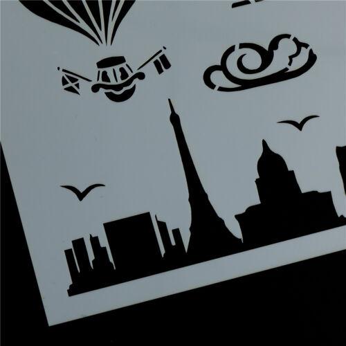 Schablone für Wandmalerei Scrapbooking Stempel Dekor Ballon Vorlage schichten X
