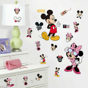Mickey-Mouse-Minnie-Wall-Stickers-Removable-Decals-Kids-Boy-Girl-Nursery-Decor