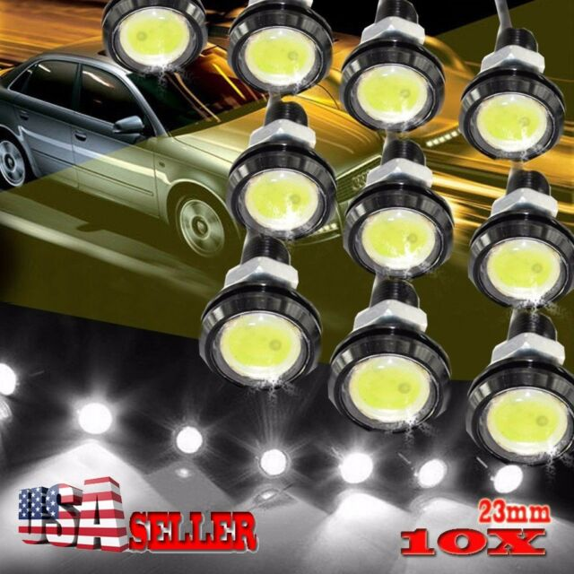 10 X 23mm Eagle Eye LED DRL Lights Car Daytime Reverse Signal Bulbs White 12V