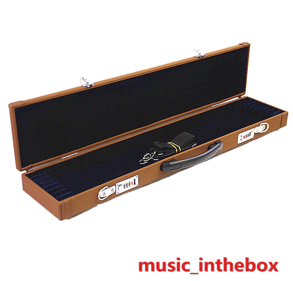 New Enhanced braun Wooden 8-Bow Case - Fit 4 4 violin lila cello bows