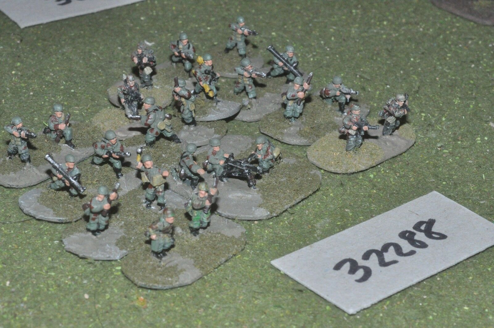 15mm WW2   german - paratroopers 24 figures - inf (32288)
