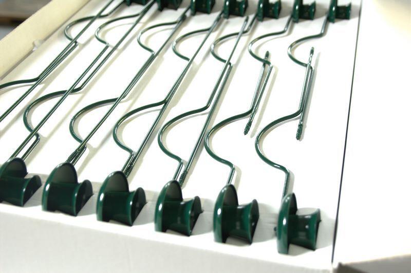 14x Weihnachtsbaumkerzenhalter für große Kerze Halter grün Metall Baumkerzen neu