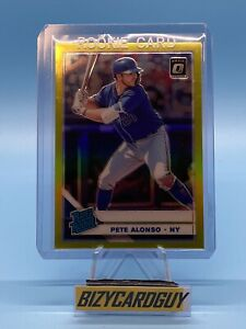 🔥 2019 PETE ALONSO RC Donruss Optic #82 Rated Rookie LIME HOLO PRIZM REFRACTOR
