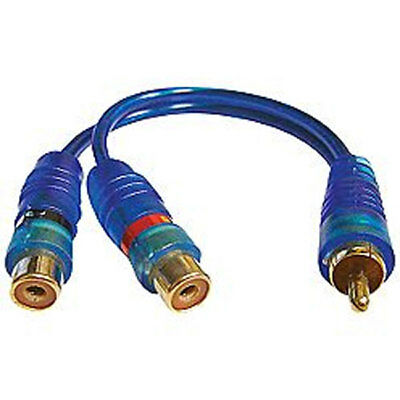 Sound Quest By Stinger SQIBY2F Car Stereo Y Adapter 1 Male To 2 Female Cable New