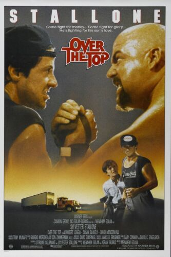"""OVER THE TOP Movie Silk Poster 11/""""x17/"""" 24/""""x36/"""" Sylvester Stallone 1987"""