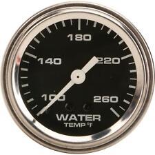 Speedway Mechanical Water Temperature Gauge, 2-1/16 Inch, Black