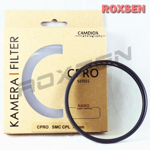 Camdiox 72mm CPRO NANO SMC Slim Pro CPL Circular Polarizing Filter for B+W Hoya