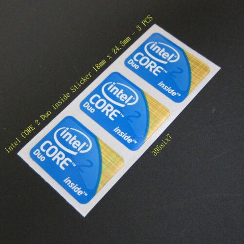 Desktop size 3x intel Core 2 Duo 2009 Version Sticker 18mm x 24.5mm
