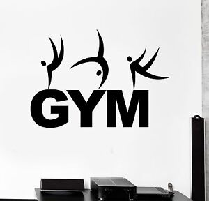 Image Is Loading Vinyl Wall Decal Gym Word Fitness Sport Gymnastics