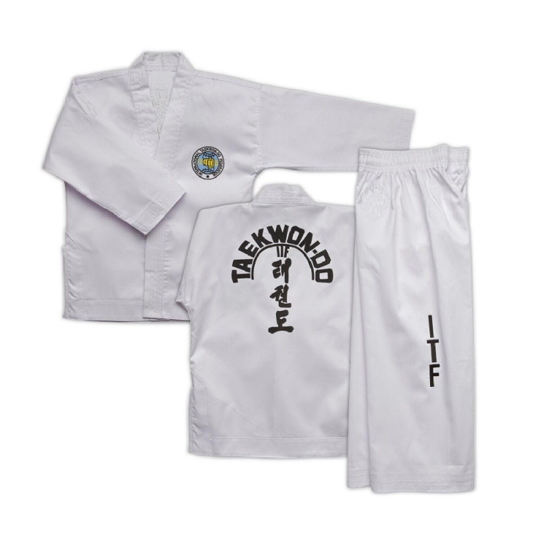 ITF SUIT for BEGINNER & Colour Belts - Superior Taekwondo Doboks at SUPER PRICES