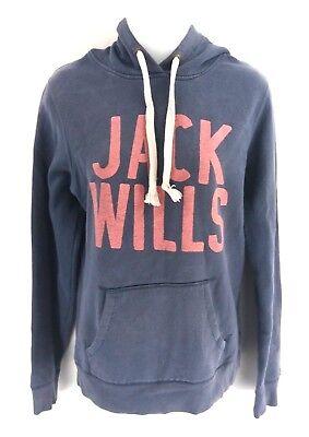 Jack Wills Da Donna Felpa Con Cappuccio 10 Blu Cotone & Poliestere-mostra Il Titolo Originale Rafforzare L'Intero Sistema E Rafforzarlo