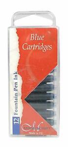Manuscript-Blue-Cartridges-Fountain-Pen-Ink-Pack-Of-12