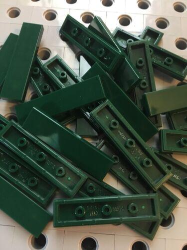 Lego Tile Dark Green 1x4 Tiles Smooth Finishing Flat Modular Buildings 25 Pcs