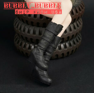 """1//6 Scale Female Tactical Boots Black Shoes for Phicen 12/"""" Action Figure Body"""