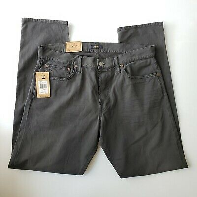 NWT $98 PREMIUM SLIM Fit Low Rise Jeans Mens RALPH LAUREN Black