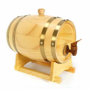 WINE-Barrel-5-liter-Whiskey-Wine-Wooden-Barrel-Spirits-Storage-Wine-Keg-US-STOCK