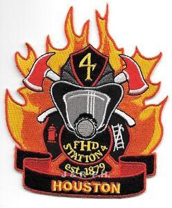 "fire patch Houston Station 3.75/"" x 4.5/"" size 27  /""Lyons Den/"" Texas"