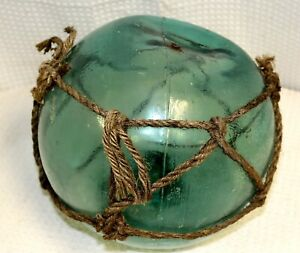 Authentic-8-1-2-034-Diameter-Japanese-Hand-Blown-Glass-Float-with-Netting