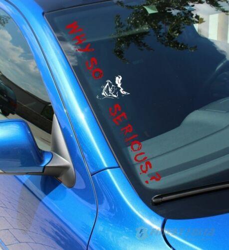 Fs56 pour Why Serious Joker Front vitres Autocollants Autocollant Film Sticker Tuning