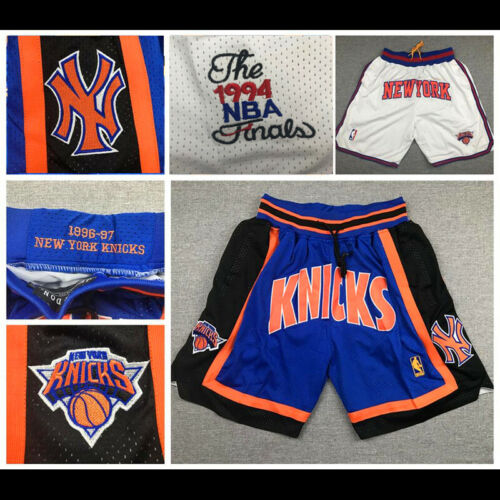 1994 Finals New York Knicks Stitched Shorts Embroidered Pants Man Men Jersey