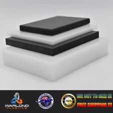 BLACK & WHITE HDPE SHEETS - SELECT SIZE - FREE SHIPPING!