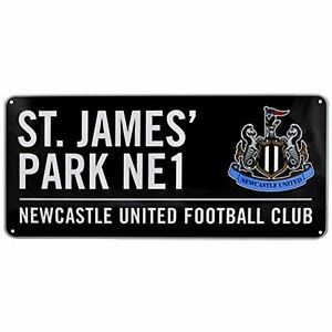 Newcastle-United-FC-St-James-Parc-Metal-Rue-Signe-Noir-Football
