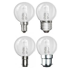 Philips 42w Halogen Golfball Round Light Bulb SES E14 Pack of 5