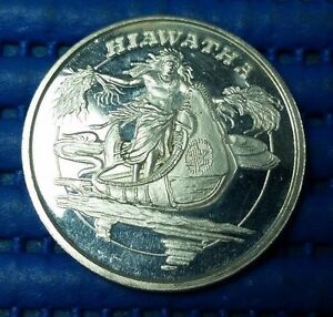 Mythological-Legends-Hiawatha-1-oz-999-Fine-Silver-by-AMC