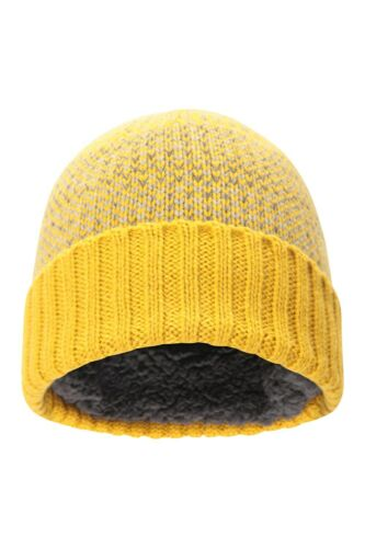 Mountain Warehouse Lightweight Men  Fleck Lined Beanie In Yellow One Size