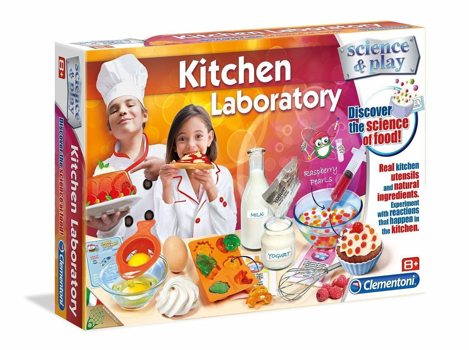 Science & Play Kitchen Laboratory Educational & Fun Food Science Set