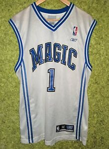 save off 567c7 30080 Details about Reebok VINTAGE NBA ORLANDO Magic TRACY McGrady #1 WHITE  Jersey SIZE M