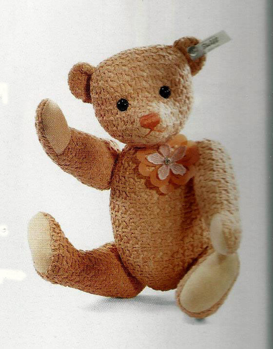 STEIFF SELECTION TEDDY BEAR ALUNA PARADISE  EAN 034893 APRICOT COTTON JOINTED