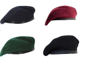 ceadba98157 Image is loading Beret-cap-Mix-Wool-Military-Special-French-For-