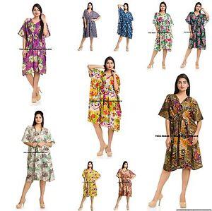 0a397f2e8ee 10 PC LOT Indian Gown Cotton Maxi Kaftan Plus Size Short Bikini ...