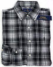 Ralph Lauren Men Black White Plaid Checker Soft Lined Flannel ...