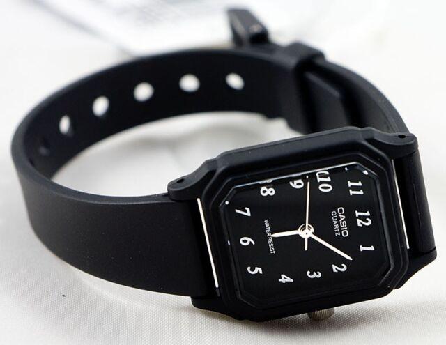 LQ-142-1B Black  Casio Watch Plastic Water Resist Analog New