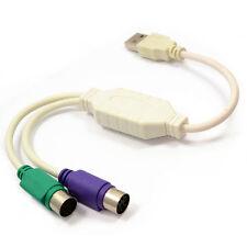 Dynamode Usb A 2 Ps2 activa Adaptador De Teclado Y Mouse