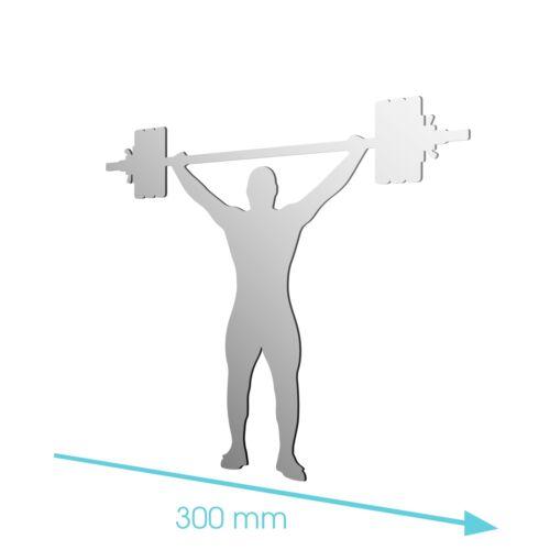 Nouveau acrylique haltérophilie exercice sports poids miroir-tailles 100mm à 1200mm