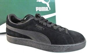df63da28d08 Image is loading PUMA-Suede-Classic-Leather-Formstrip-Sneaker-Black-Black-