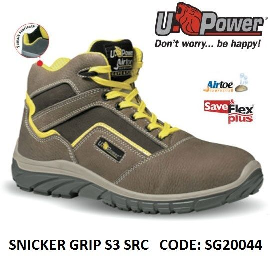 Upower Svoiturepa da lavor antinfortunistica SNICKER GRIP S3 SRC U-POWER SG20044